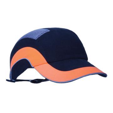 洁适比JSP 运动安全帽,01-5001,舒适型 黑橘色 帽檐7cm,20顶/箱