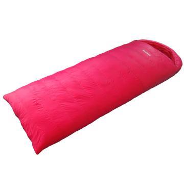 纳瓦兰德 信封羽绒睡袋,1500克加长加宽 零下25度~5度 玫粉色 尺寸:230*90 单位:个