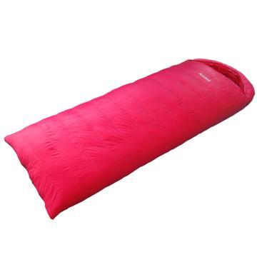 納瓦蘭德 信封羽絨睡袋,1200克加長加寬 零下20度~10度 玫粉色 尺寸:230*90 單位:個