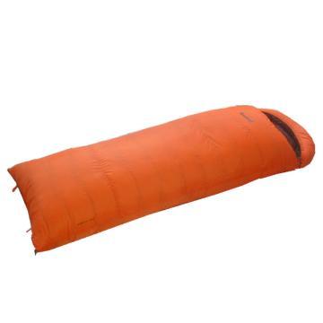 納瓦蘭德 信封羽絨睡袋,1000克加長加寬 零下24度~零度 橘色 單位:個