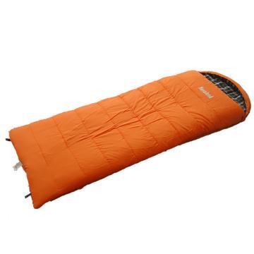 纳瓦兰德 信封超长加宽法兰绒棉睡袋, 橘色 规格:230*90 单位:个