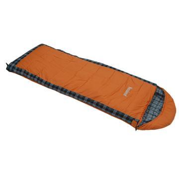 纳瓦兰德信封加长加宽300g法兰绒睡袋  橘色  规格:(190+35)x80cm 零下8度~8度 单位:个