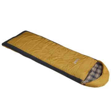 纳瓦兰德信封加长加宽300g法兰绒睡袋  杏黄色  规格:(190+35)x80cm 零下8度~8度 单位:个