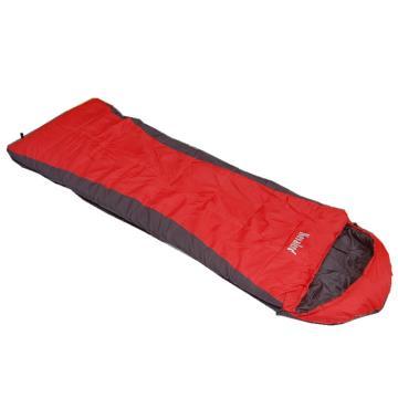 纳瓦兰德 信封260克中空棉睡袋, 2℃∽12℃∽20℃红黑色 单位:个