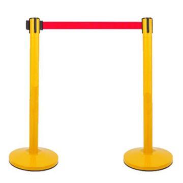 安赛瑞 伸缩警示柱 黄色杆子,红色带子,3.5-4m(售完即止)