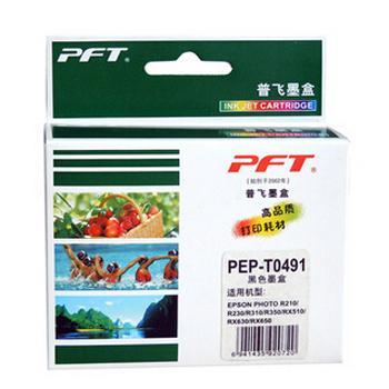 普飞爱普生墨盒,T0491,适配机型EPSON STYLUS PHOTO R210/R230/R310/RX510/RX630/R350