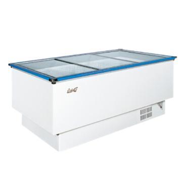 白雪 538L岛柜,SCWD4-538F,热反射镀膜平面钢化玻璃移门,LED照明,配加强型钢丝篮,五面制冷