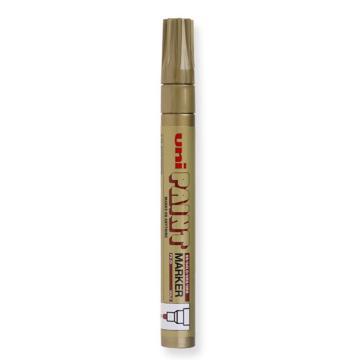 三菱 uni 记号笔, 油性记号笔 PX-20 2.2-2.8mm (金色)粗头单支