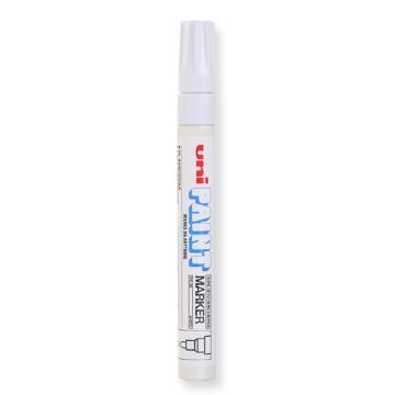 三菱 uni 记号笔, 油性记号笔 PX-20 2.2-2.8mm (白色)粗头单支