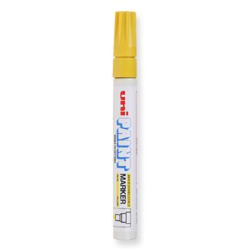 三菱 uni 记号笔, 油性记号笔 PX-20 2.2-2.8mm (黄色)粗头单支