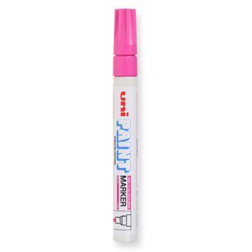 三菱 uni 记号笔, 油性记号笔 PX-20 2.2-2.8mm (粉色)粗头 单支