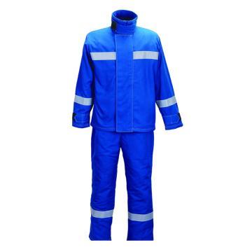 华泰 5cal防电弧夹克+裤子,宝蓝色,170