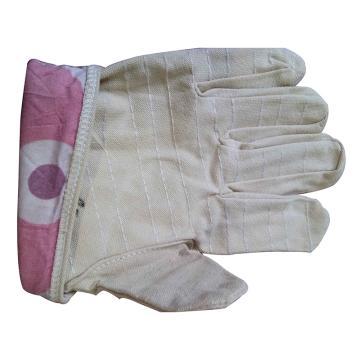 西域推荐 帆布手套,6道线4*4帆布手套
