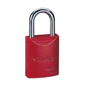 玛斯特锁MasterLock 6mm锁钩,锁钩净高27mm,红色铝合金安全锁,6835MCNRED