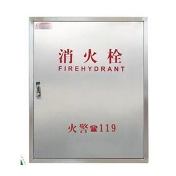 单门式消火栓箱(空箱), 304不锈钢,800×650×240mm(高×宽×厚)(仅限江浙沪、华南、西南、湖南、湖北、陕西、安徽地区)