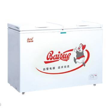 白雪 226L冷冻冷藏顶开门冰柜,BDX-226D,顶开式盖门自平衡铰链,双间室冷冻储藏均分