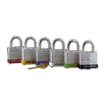 Master Lock 7mm锁钩,锁钩净高19mm,黑色胶圈,钢板千层锁,3MCNBLK