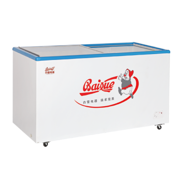 白雪 338L转换型冷冻冷藏展示柜,SD/C-338FA,钢化热反射镀膜玻璃,配篮筐,五面制冷