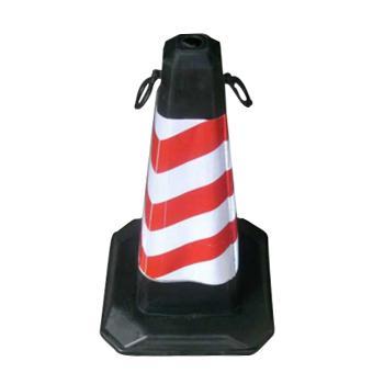 襄辰 橡胶底方锥,红白,700×400×400mm,LZ027