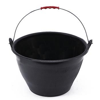 牛筋灰桶 水泥桶,黑色 上口徑33高度21下口徑22