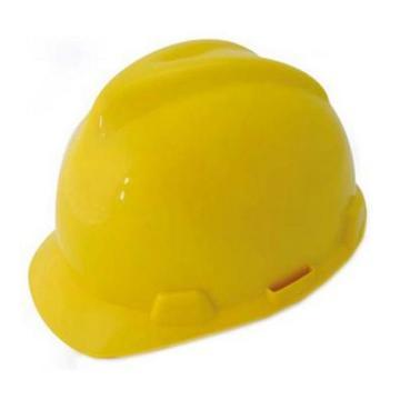 羿科 AV60 ABS V型安全帽,黄色,正面印金海