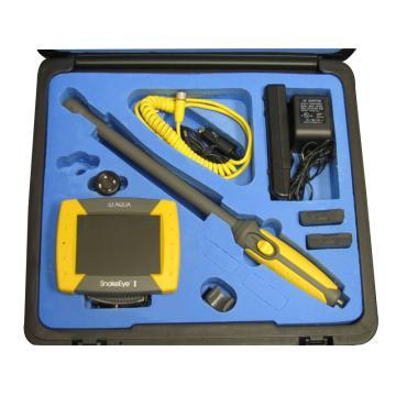 "SnakeEye 工业内窥镜,SnakeEye III W  BK-03W,5""彩色显示""。  LED相机。  4英尺电缆。  18英寸刚性棒。  Finger Adapter。  电池组(2个电池)。  电池充电器。  交流适配器  直流适配器  IP68试剂盒  SD卡。"