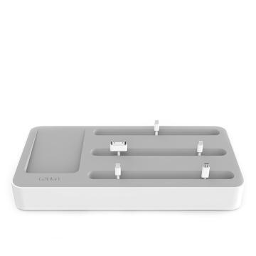 LOUKIN 智能充电底座 白色/黑色 USB智能输出适配器 单位:个