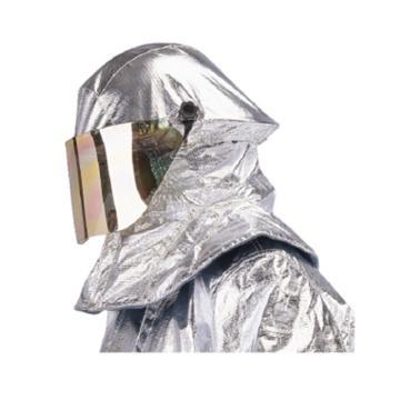 雷克兰  PBI/KEVLAR镀铝隔热帘灭火头盔,NFPA认证;镀铝工艺配件和镀金面屏;额外镀铝防火帘设计,并可配合空气呼吸器使用