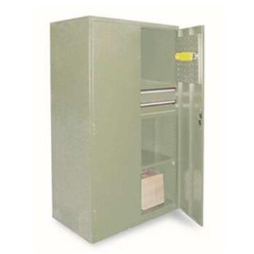 信高 带抽屉层板式置物柜, 1090×630×2000mm(三层)绿色