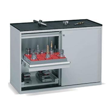 移门工具柜, 1130W*600D*1000H 2层层板4个抽屉