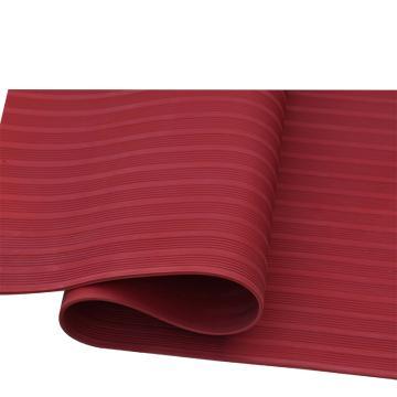 华泰 耐高压防滑平面绝缘垫,绝缘胶板 红色,3mm厚 1m宽 10米/卷,5kv