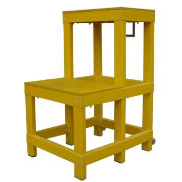 华泰 玻璃钢绝缘二层凳,额定载重(kg):150 耐压220KV 踏板尺寸(cm):30*50 梯高(cm):80,HT-049-01