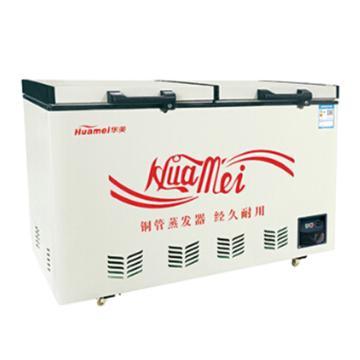 华美 359L双温双门顶开冷柜,BCD-359(铜管产品)