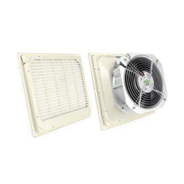 雷普 超薄型机柜风扇带过滤器,FK5526.230,230V,面板325×325mm,RAL7035色,订货号2011.028