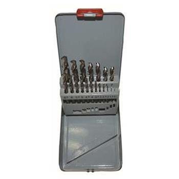 捷夫 25件白磨套钻,麻花钻1-13mm,间隔0.5