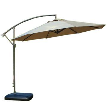 西域推荐 户外遮阳伞,规格:卡其色,铁杆3米遮阳防雨送移动水座 单位:把