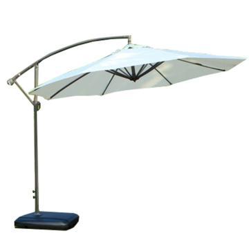 户外遮阳伞,规格:米白色,铁杆3米遮阳防雨送移动水座 单位:把
