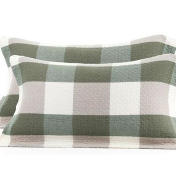 百事甜纯棉枕巾,全棉水洗纱布加厚布艺 2个/对 墨绿色 约50*80cm
