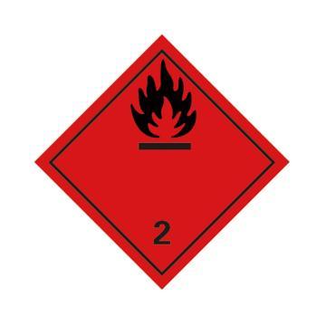 危险品标识(易燃气体 2 )- 高性能不干胶,100mm×100mm,20张/包
