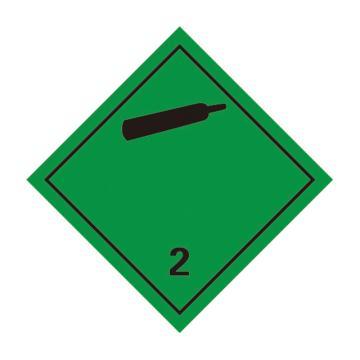 危险品标识(非易燃无毒气体 2 )- 高性能不干胶,100mm×100mm,20张/包
