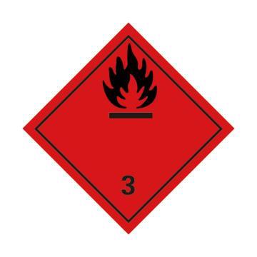 危险品标识(易燃液体 3 )- 高性能不干胶,100mm×100mm,20张/包