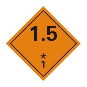 危险品标识(1.5 爆炸性物质或物品 1)- 高性能不干胶,100mm×100mm,20张/包