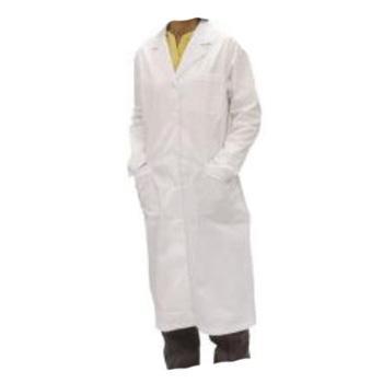 安防 女式大褂,H003W-170/L,长袖全棉 白色