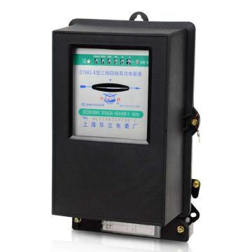 上海华立  输电仪器仪表 电子式三相四线有功电能表,DT862-4 30(100)A