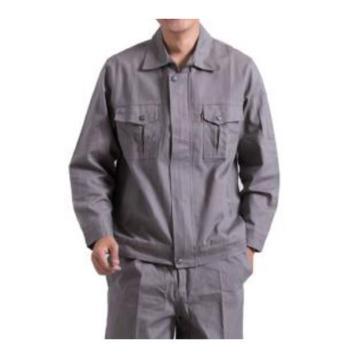 沽衣邦 纯棉秋季工作服,灰色 170