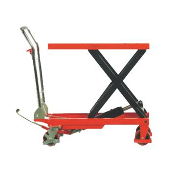 诺力 脚踏式升降平台车(颜色:红黄随机),载重(kg):500,台面尺寸(mm):815*500,起升范围(mm):285-880,型号 TF50