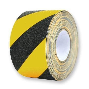 安赛瑞 防滑胶带,黄/黑,100mm×20m,14213
