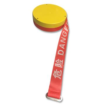 安赛瑞 盒装警示隔离带-OSH标识 危险,工程塑料板塑料外壳,尼龙布隔离带,50mm×100m,11116