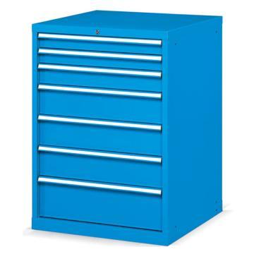 固定式工具柜,(七个抽屉)200kg 蓝色