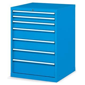 发弥 固定式工具柜,(七个抽屉)100kg 蓝色